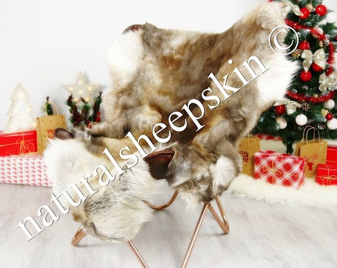 Reindeer Hide | Reindeer Rug | Reindeer Skin | Throw XXXL GIANT  - Scandinavian Style #DRE1 150X105cm