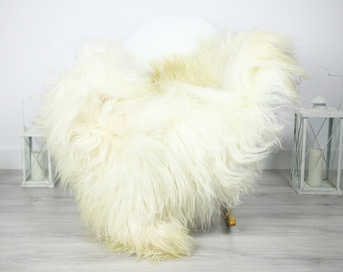Icelandic Sheepskin   Real Sheepskin Rug   Sheepskin Rug White Beige   Fur Rug   Homedecor #3Isl10