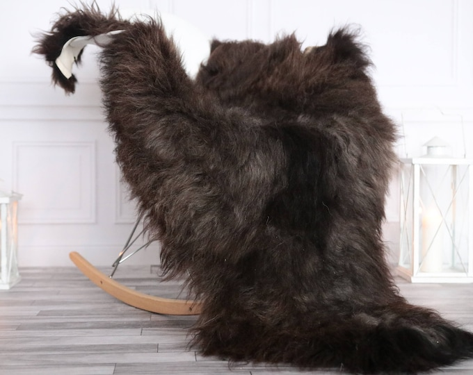 Organic Sheepskin Rug, Real Sheepskin Rug, Gute Sheepskin, Christmas Home Decor,  brown Sheepskin Rug #OCTGUTE15