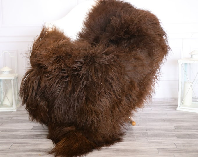 Icelandic Sheepskin | Real Sheepskin Rug |  Super Large Sheepskin Rug Brown | Fur Rug | Homedecor #APRISl10