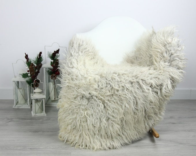 Organic Sheepskin Rug, Real Sheepskin Rug, Curly Sheepskin, Gray Beige Sheepskin Rug Christmas Home #CURLGUT20