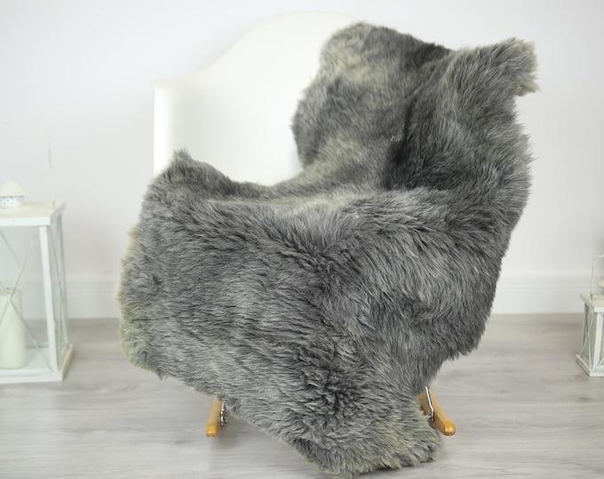 Sheepskin Rug | Real Sheepskin Rug | Shaggy Rug | Chair Cover | Sheepskin Throw | Gray sheepskin | Home Decor | #JAC32