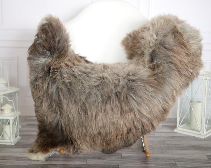 Sheepskin Rug | Real Sheepskin Rug | Shaggy Rug | Sheepskin Throw | Super Large Sheepskin Rug Gray Brown | Home Decor | #HERMAJ84