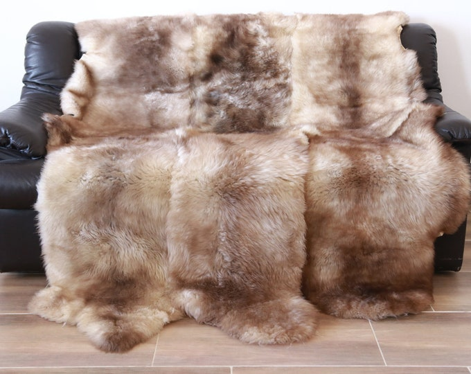 Sexto Sheepskin Rug | Large sheepskin rug | Shaggy Rug | Chair Cover | Area Rug | cappuccino  Rug | Carpet | cappuccino Sheepskin