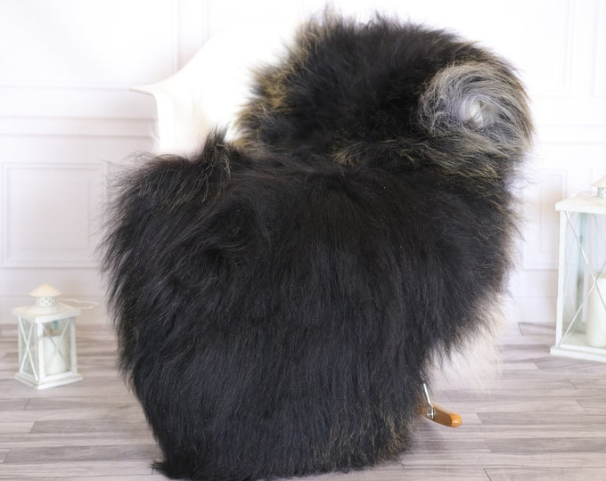 Icelandic Sheepskin   Real Sheepskin Rug    Super Large Sheepskin Rug Gray Black Gold   Fur Rug   Homedecor #KOWISL3