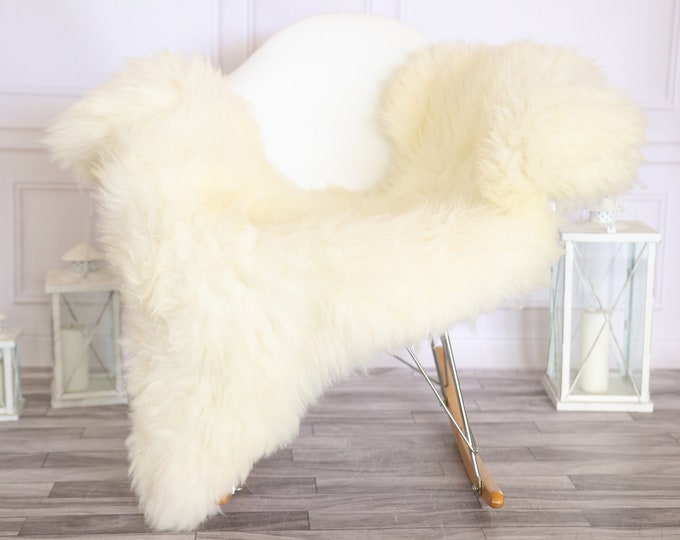 Sheepskin Rug | Real Sheepskin Rug | Shaggy Rug | Scandinavian Rug | | SCANDINAVIAN DECOR | Beige Sheepskin  #MIHER35