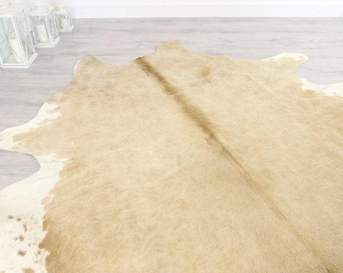 Premium Quality Giant XXXL Cowhide | Real Cowhide Rug | Sand White Cowhide | #COW15