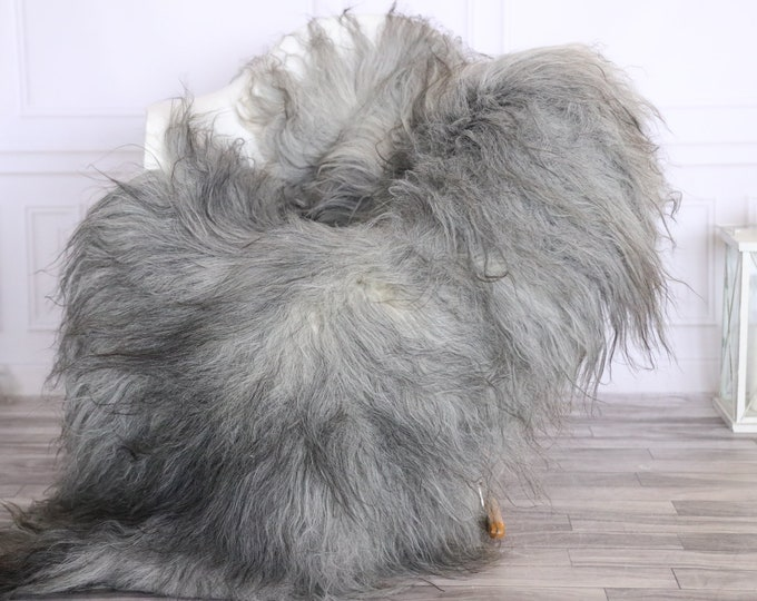 Icelandic Sheepskin | Real Sheepskin Rug | CHRISTMAS DECOR | Sheepskin Rug Gray | Fur Rug | Homedecor #LISISL34