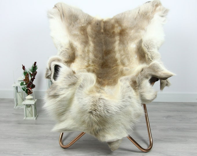 Reindeer Hide | Reindeer Rug | Reindeer Skin | Throw  - Scandinavian Style #GRE10 140x115 | Christmas Decor |