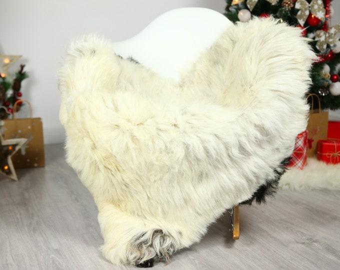 Organic Sheepskin Rug, Real Sheepskin Rug, Gute Sheepskin, Beige Black Sheepskin Rug Christmas Home #GUTCHRIS16