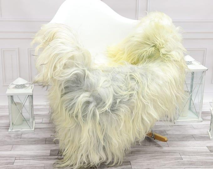 Icelandic Sheepskin   Real Sheepskin Rug   Grey Ivory Sheepskin Rug   Fur Rug   Christmas Decorations #islsept23