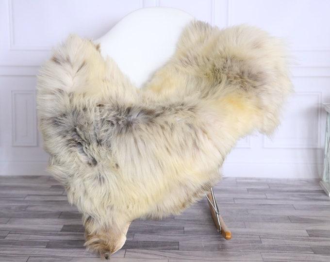 Sheepskin Rug | Real Sheepskin Rug | Shaggy Rug | Chair Cover | Sheepskin Throw | Beige Gray | CHRISTMAS DECOR | #LISHER30