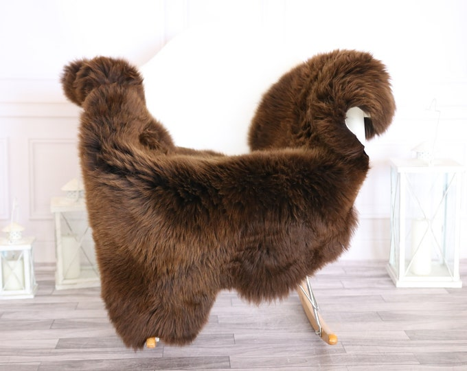 Sheepskin Rug | Real Sheepskin Rug | Shaggy Rug | Scandinavian Rug | | SCANDINAVIAN DECOR | Brown Sheepskin  #MIHER38