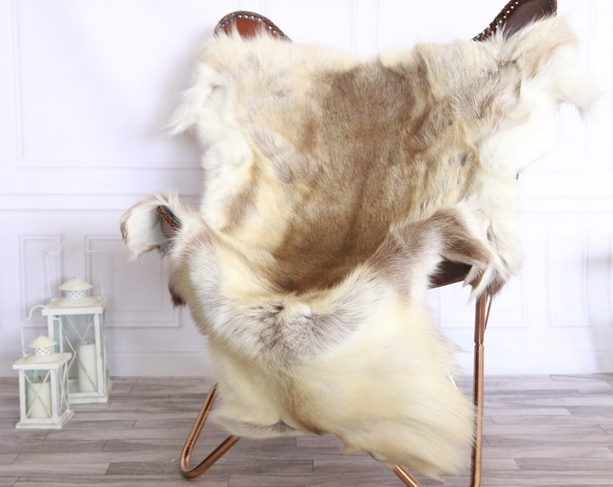 Reindeer Hide | Reindeer Rug | Reindeer Skin | Throw XXL EXTRA LARGE - Scandinavian Style #FRE19