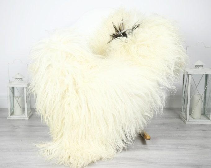 Icelandic Sheepskin   Real Sheepskin Rug   Sheepskin Rug Ivory Black   Fur Rug   Homedecor #3Isl12