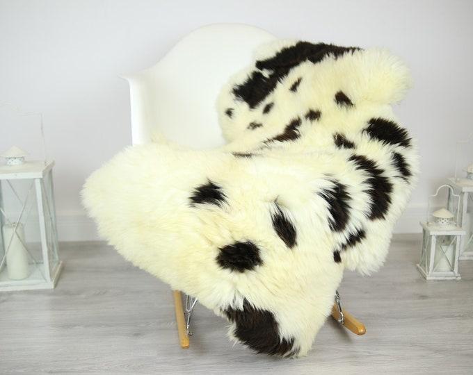 Sheepskin Rug   Real Sheepskin Rug   Shaggy Rug   Chair Cover   Sheepskin Throw   Brown Ivory Sheepskin   Home Decor   #JAC13