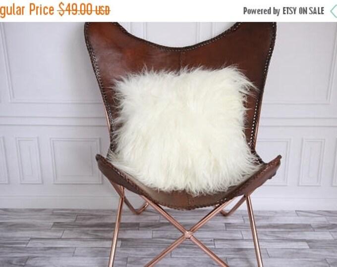 ON SALE Real Icelandic Sheepskin Pillow Sheepskin Cushion