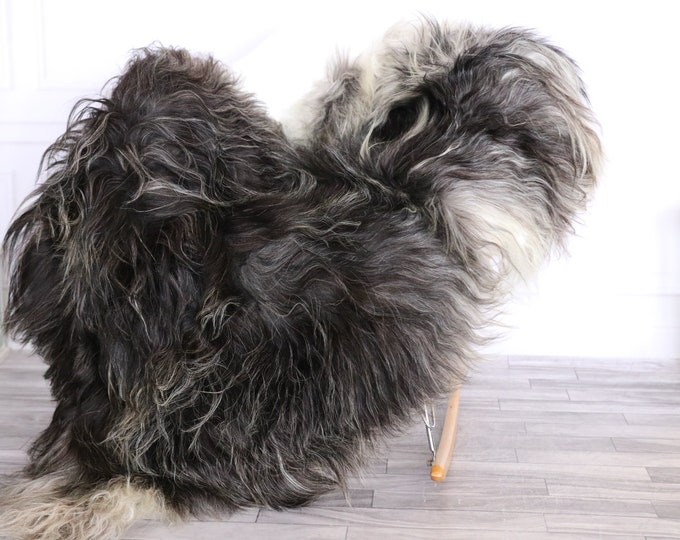 Icelandic Sheepskin | Real Sheepskin Rug | CHRISTMAS DECOR | Sheepskin Rug | Gray Brown | Fur Rug | Homedecor #LISISL17