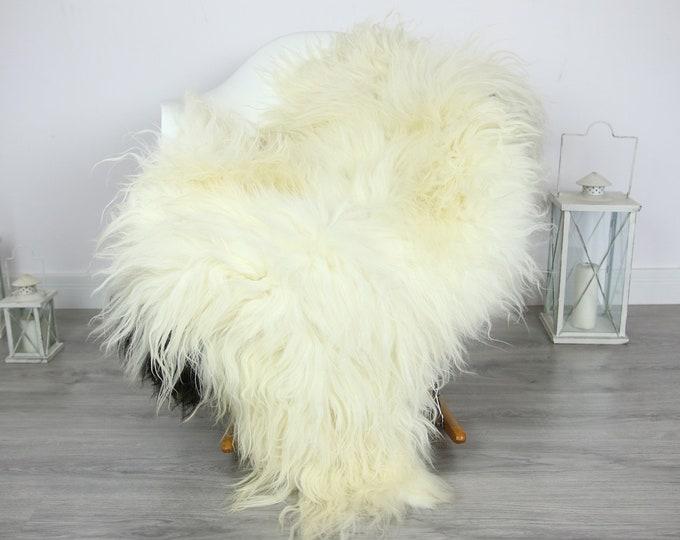 Icelandic Sheepskin | Real Sheepskin Rug | | Large Sheepskin Rug ivory | Fur Rug | Homedecor | Sheepskin Throw | Long fur #colisl9