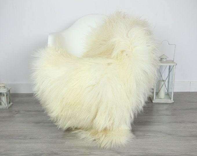 Icelandic Sheepskin | Real Sheepskin Rug | | Large Sheepskin Rug Ivory | Fur Rug | Homedecor | Sheepskin Throw | Long fur #colisl5