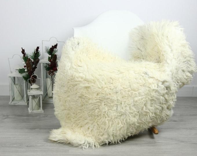 Organic Sheepskin Rug, Real Sheepskin Rug, Curly Sheepskin, Gray Beige Sheepskin Rug Christmas Home #CURLGUT25