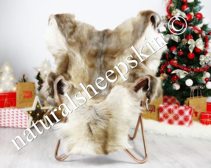 Reindeer Hide | Reindeer Rug | Reindeer Skin | Throw XXXL GIANT  - Scandinavian Style #DRE2 150X100cm