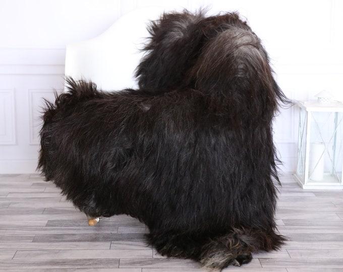 Icelandic Sheepskin | Real Sheepskin Rug | CHRISTMAS DECOR | Sheepskin Rug Gray Brown | Fur Rug | Homedecor #1isl9