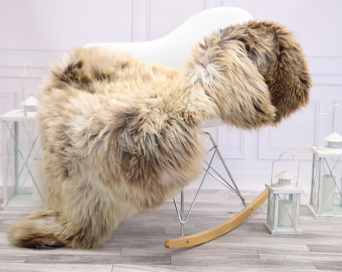 Sheepskin Rug | Real Sheepskin Rug | Shaggy Rug | Scandinavian Rug | | SCANDINAVIAN DECOR |  BEIGE Sheepskin  #NOVHER68