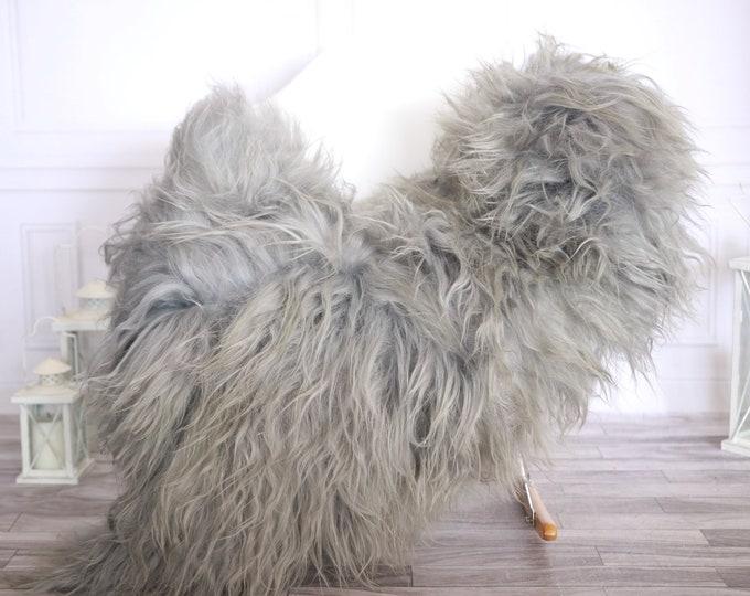 Icelandic Sheepskin | Real Sheepskin Rug | Gray Sheepskin Rug | Fur Rug |Scandinavian dedcor | #ISLSKL36