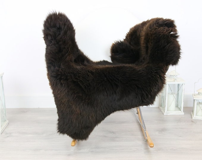 Sheepskin Rug   Real Sheepskin Rug   Shaggy Rug   Scandinavian Rug   Sheepskin Throw Brown Sheepskin   SCANDINAVIAN DECOR   #5HER24
