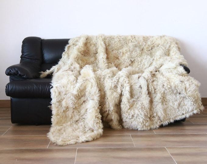 Luxurious Gotlnd Sheepskin Real Fur Throw | Real Fur Blanket | Sheepskin throw |