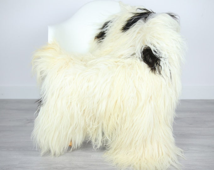 Icelandic Sheepskin | Real Sheepskin Rug | | Large Sheepskin Rug Ivory White | Fur Rug | Homedecor | Sheepskin Throw | Long fur #colisl36