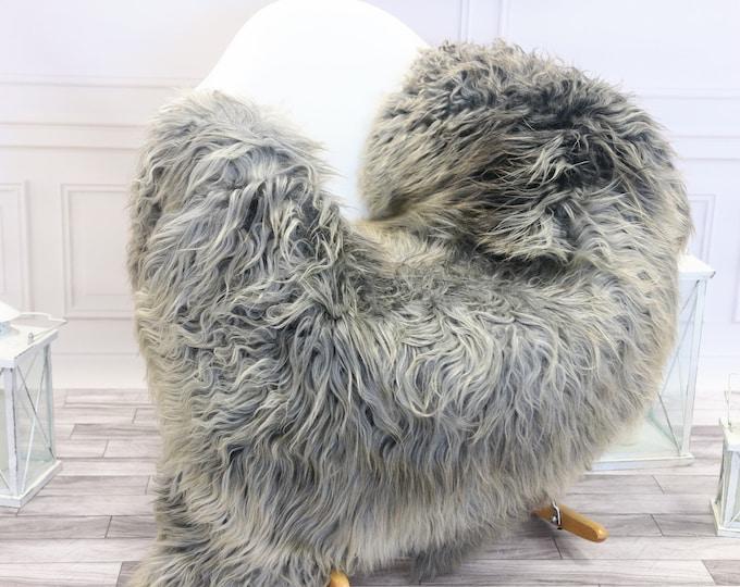 Genuine Rare Gotland Sheepskin Rug - Curly Fur Rug - Natural Sheepskin - Gray  Sheepskin #GOTWES23