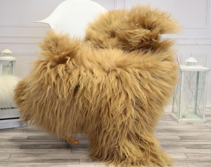 Icelandic Large Sheepskin | Real Sheepskin Rug | Blonde Sheepskin Rug | Fur Rug |  Home decor #JANISL34