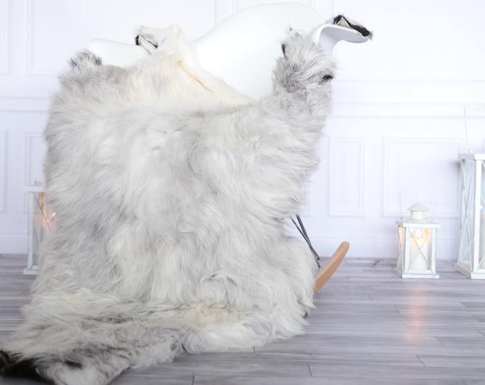 Organic Sheepskin Rug, Real Sheepskin Rug, Gute Sheepskin, Christmas Home Decor, Grey Ivory Sheepskin Rug #OCTGUTE22