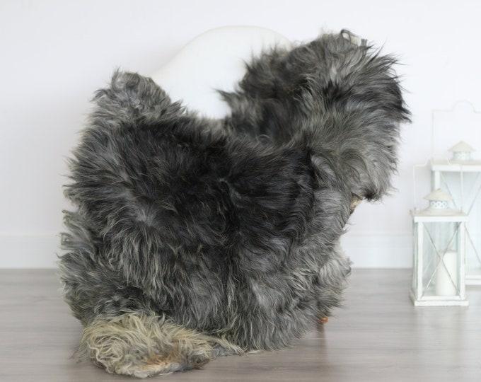 Real Icelandic Sheepskin Rug Scandinavian Decor Sofa Sheepskin throw Chair Cover Natural Sheep Skin Rugs Gray Blanket Fur Rug #4isl2