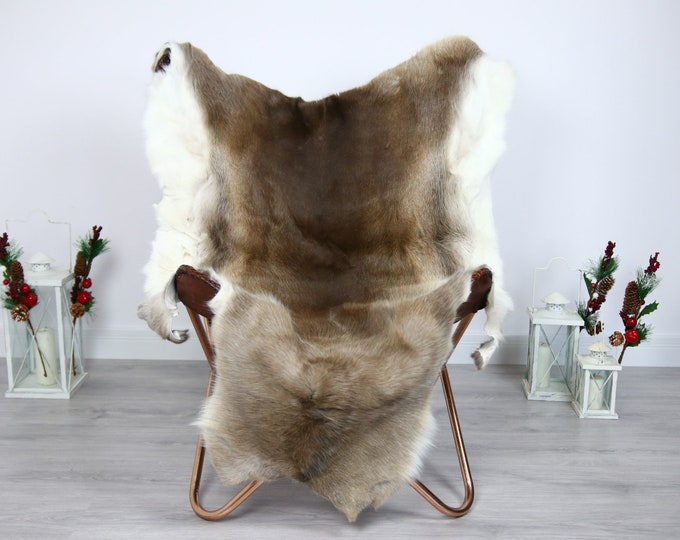 Reindeer Hide | Reindeer Rug | Reindeer Skin | Throw  - Scandinavian Style #ERE6 150x100 | Christmas Decor |