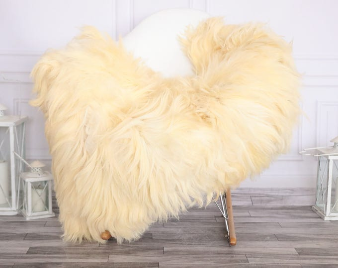 Sheepskin Rug | Real Sheepskin Rug | Shaggy Rug | Chair Cover | Sheepskin Throw | Ivory Sheepskin | CHRISTMAS DECOR | #NOVHER44