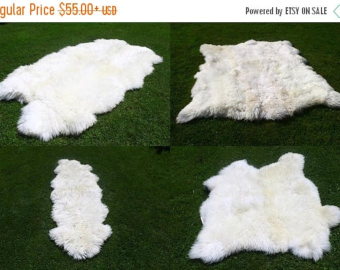 ON SALE Sheepskin Rug | White Sheepskin Rug | Real Sheepskin rug | Sheepskin Throw |  Double Sheepskin Rug | Quatro Sheepskin Rug | Octo She