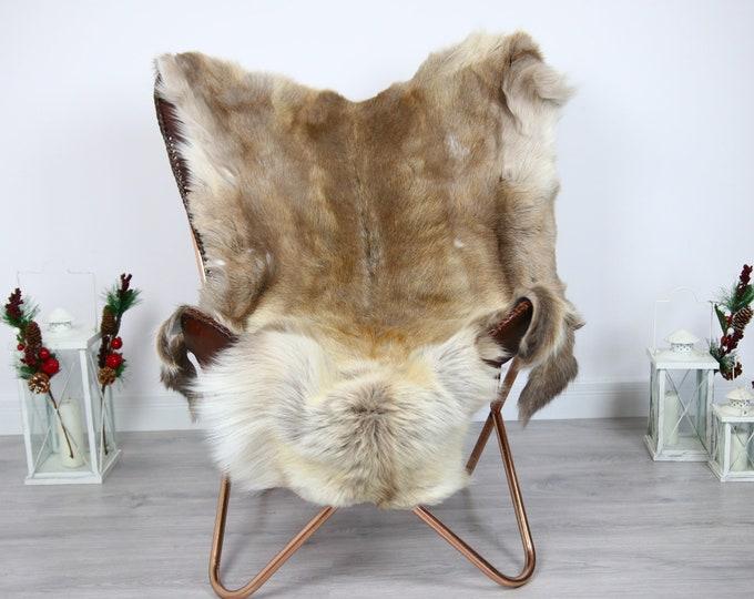 Reindeer Hide | Reindeer Rug | Reindeer Skin | Throw  - Scandinavian Style #ERE5 140x110 | Christmas Decor |