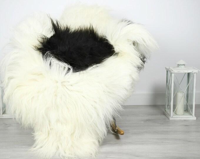 Icelandic Sheepskin   Real Sheepskin Rug   Sheepskin Rug Ivory Black   Fur Rug   Homedecor #3Isl22