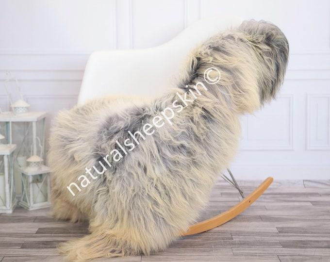 Icelandic Sheepskin | Real Sheepskin Rug | Ivory Gray Sheepskin Rug | Fur Rug | Homedecor #febisl23