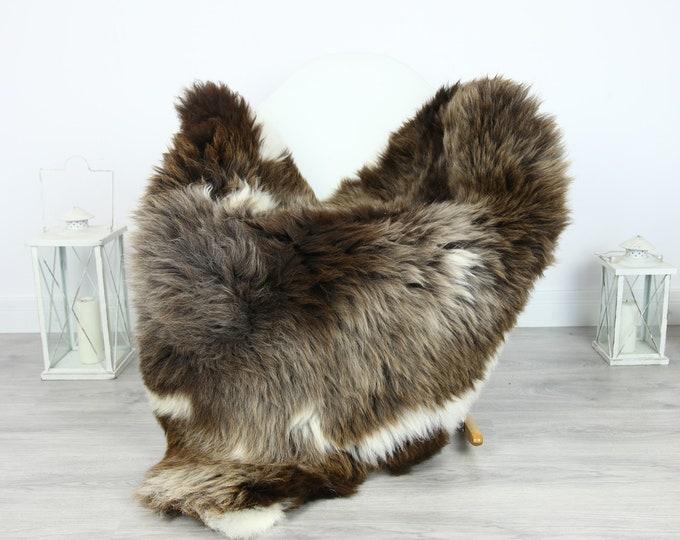 Sheepskin Rug | Huge Real Sheepskin Rug | Shaggy Rug | Chair Cover | XXL Sheepskin Throw | Brown White Sheepskin | Home Decor | #PRYMHER18