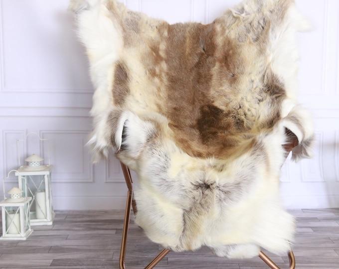 Reindeer Hide | Reindeer Rug | Reindeer Skin | Throw XXL EXTRA LARGE - Scandinavian Style #FRE11