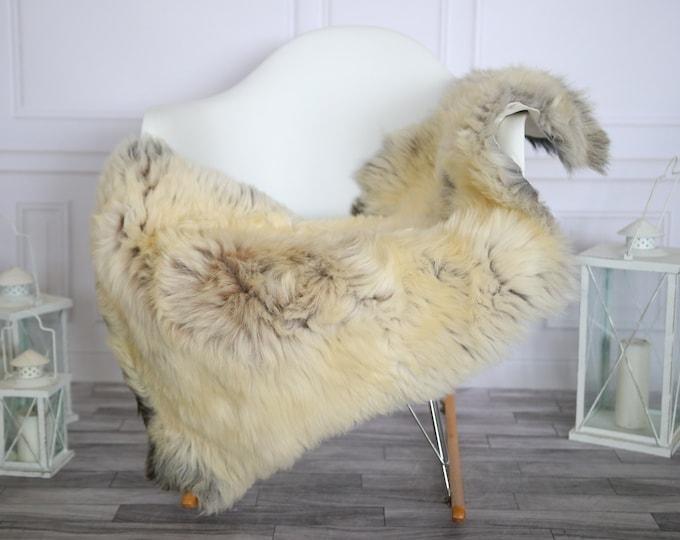 Sheepskin Rug   Real Sheepskin Rug   Shaggy Rug   Chair Cover   Sheepskin Throw   Beige Gray Sheepskin   Home Decor   #HERMAJ61