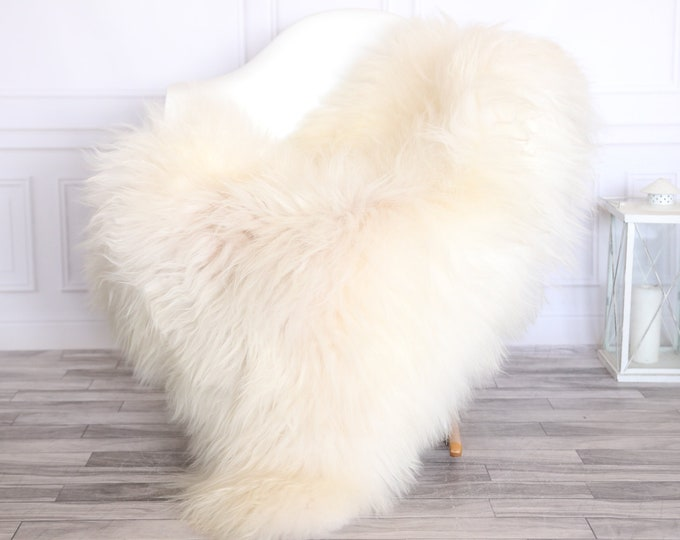Icelandic Sheepskin | Real Sheepskin Rug | CHRISTMAS DECOR | Sheepskin Rug Ivory Beige | Fur Rug | Homedecor #1isl26