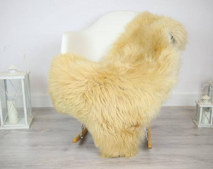 Sheepskin Rug | Real Sheepskin Rug | Shaggy Rug | Chair Cover | Sheepskin Throw | Beige Sheepskin | Home Decor | #JAC9