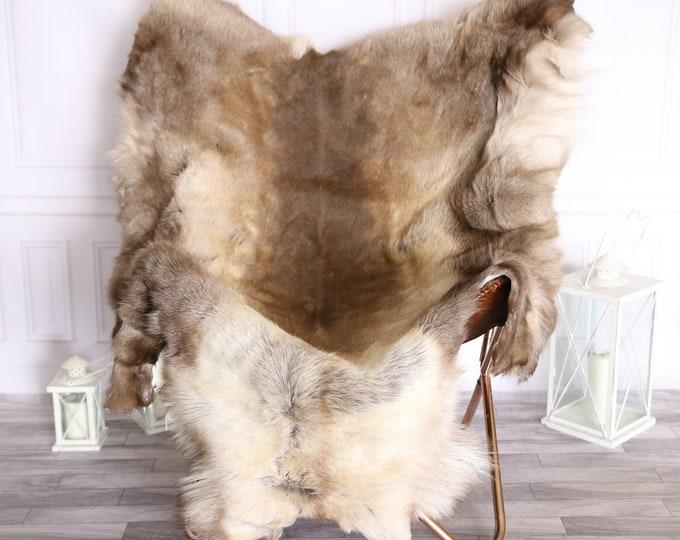 Reindeer Hide | Reindeer Rug | Reindeer Skin | Throw Large  - XXXL GIANT Scandinavian Style #BRE5