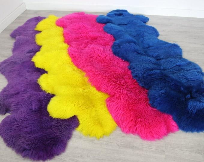 Real Sheepskin Rug Scandinavian Decor Sofa Sheepskin throw Chair Cover Natural Sheep Skin Rugs  Blanket Fur Rug Dyed  Sheepskin