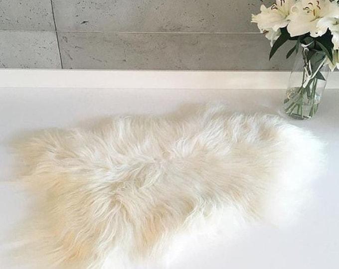 ON SALE Exclusive Genuine Natural Icelandic Sheepskin Rug, Pelt, super soft long fur  Large